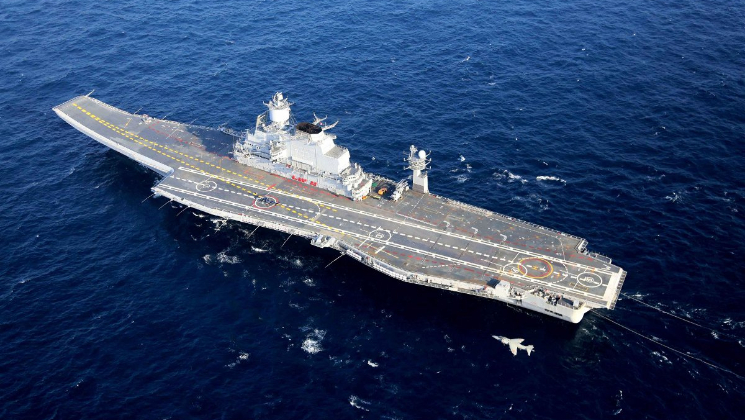Ship launched in Kolkata to carry fuel to INS Vikramaditya
