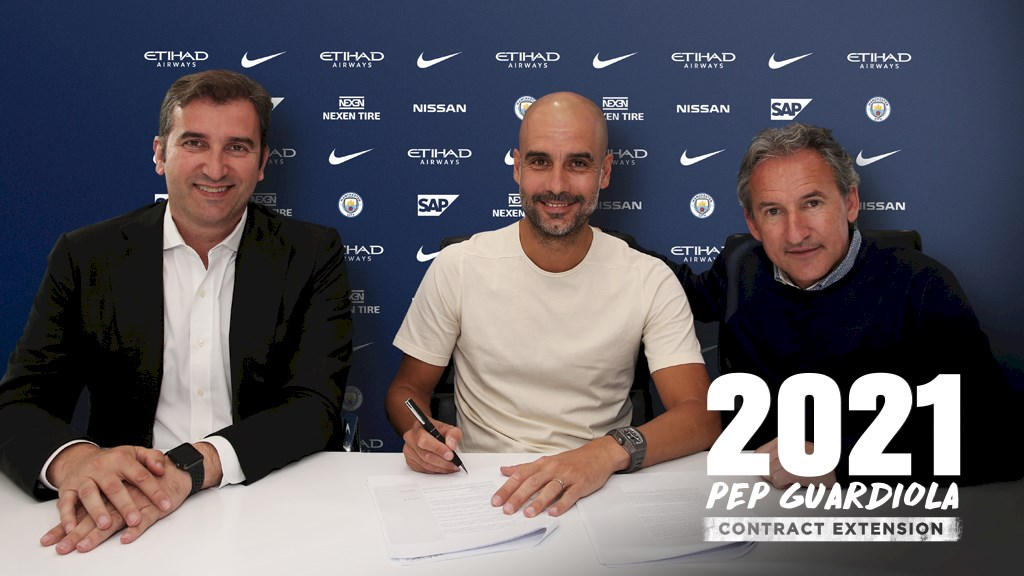 Guardiola signs contract extension
