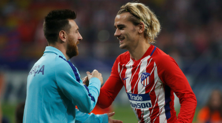 Messi along with Griezmann