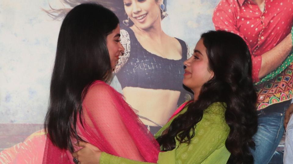 Sridevi missing: 'Khushi' in sorrow on the launch of sister's debut 'Dhadak'