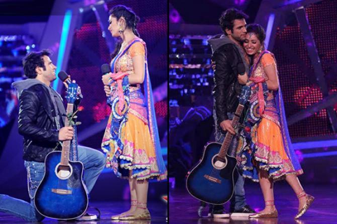 Asha Negi and Rithwik Dhanjani proposal