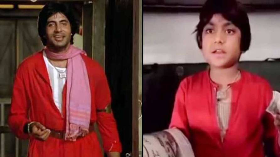 Ravi Valecha as Amitabh's character in Coolie