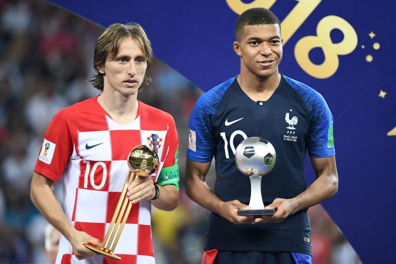 "Kylian Mbappe won the ""Young Player of the Tournament"" award. Luka Modric was named the ""Golden Ball"" winner"