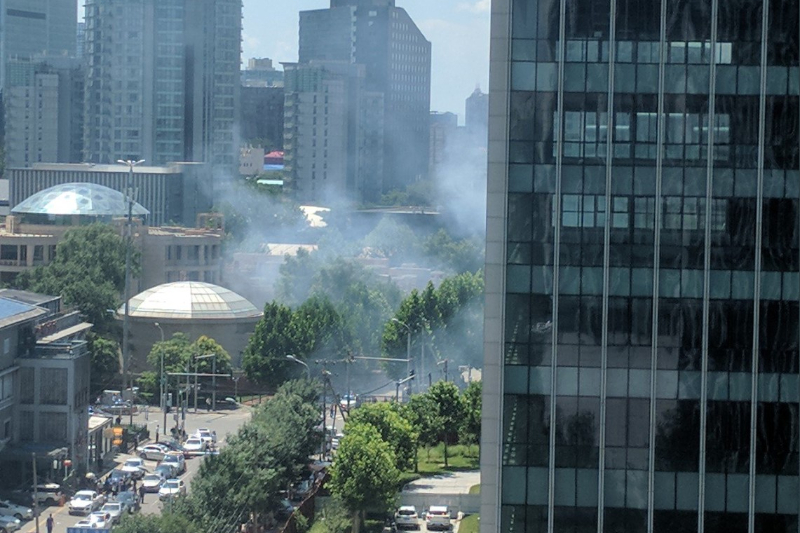 Suspected self immolation near US Embassy in China, reports state media