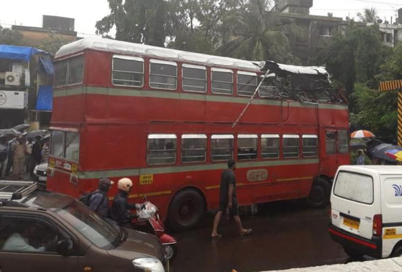 Mumbai live update: BEST double-decker bus roof ripped off