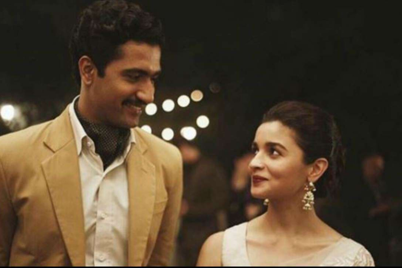 Vicky Kaushal with Alia Bhatt in Raazi