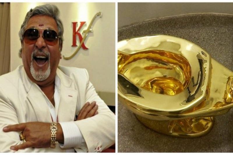 Vijay Mallya golden toilet