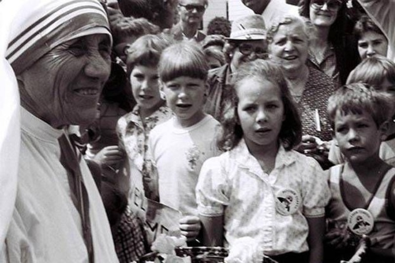Mother Teresa at St. Paul's, Alberta, 1982