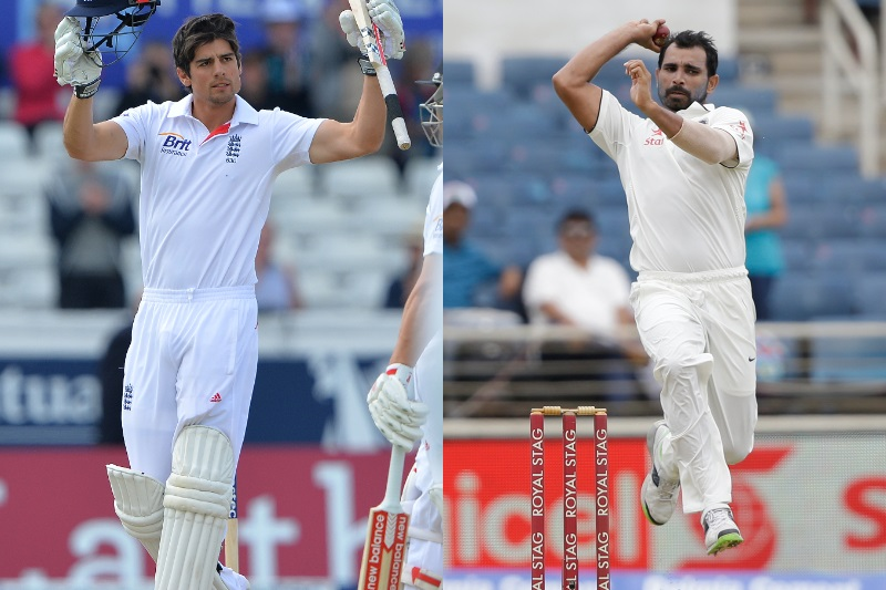 Alastair Cook Mohammed Shami