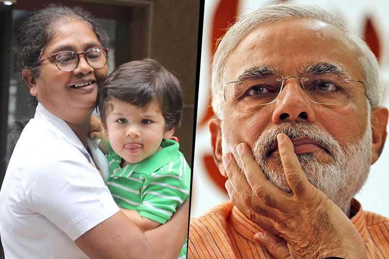 taimur's nanny's salary equals PM Modi's