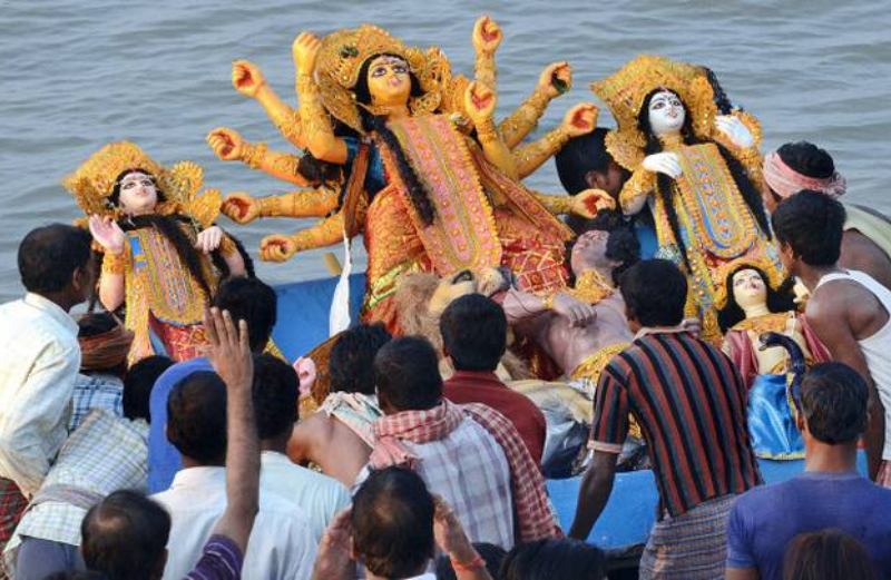 Police Officers Beaten Up Durga Puja