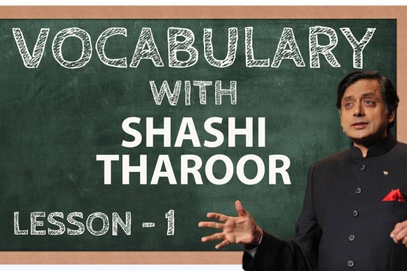 Shashi Tharoor words
