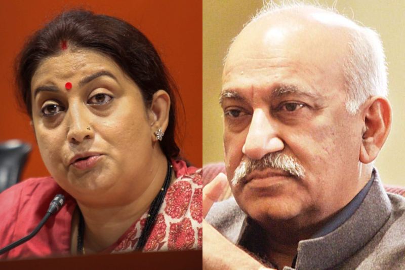MeToo MJ Akbar speak Smriti Irani