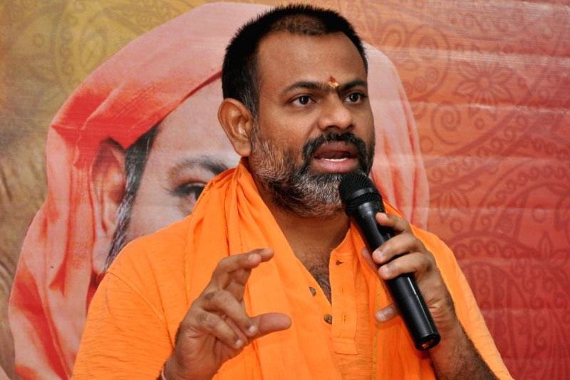 swami paripoornananda joins bjp