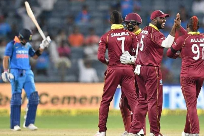 India West Indies Virat Kohli ton Caribbeans snatch win