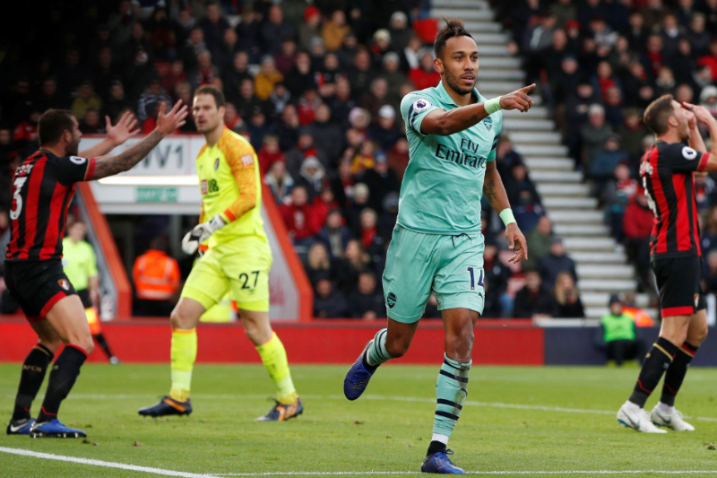 EPL Pierre Aubameyang leads Arsenal first win three years Bournemouth
