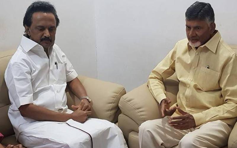 Chandrababu Naidu met MK Stalin