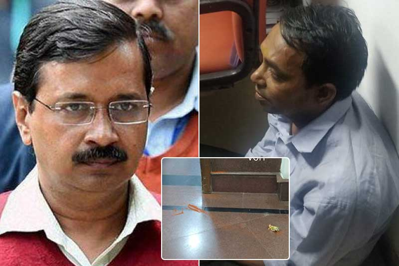 delhi-cm-arvind-kejriwal-attacked-with-chilli-powe