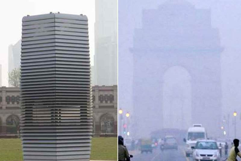 Kurin systems 40 ft smog tower to purify city air in Delhi