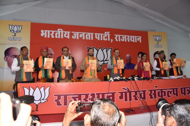 Rajasthan Assembly elections BJP manifesto