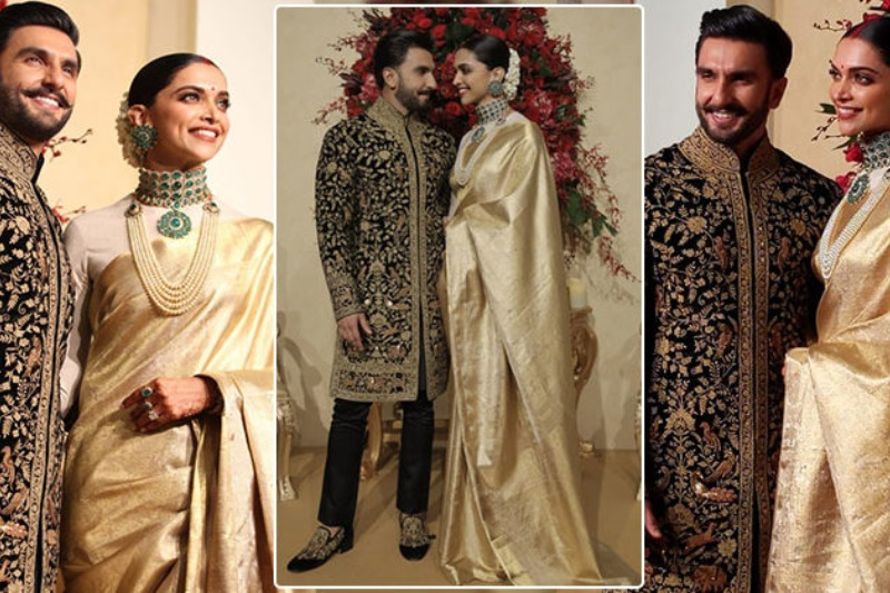 Deepika, Ranveer dazzle in gold for their Bengaluru reception