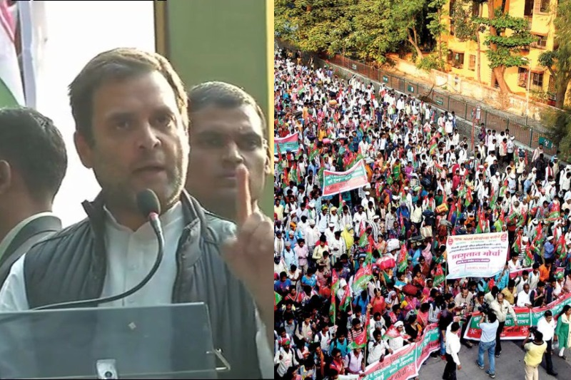 Rahul Gandhi join Kisan March