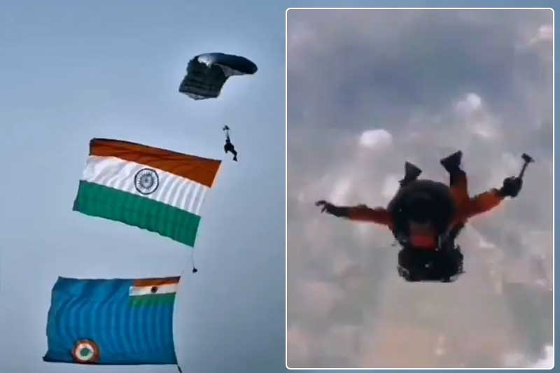 Indian Air Force skydive team record