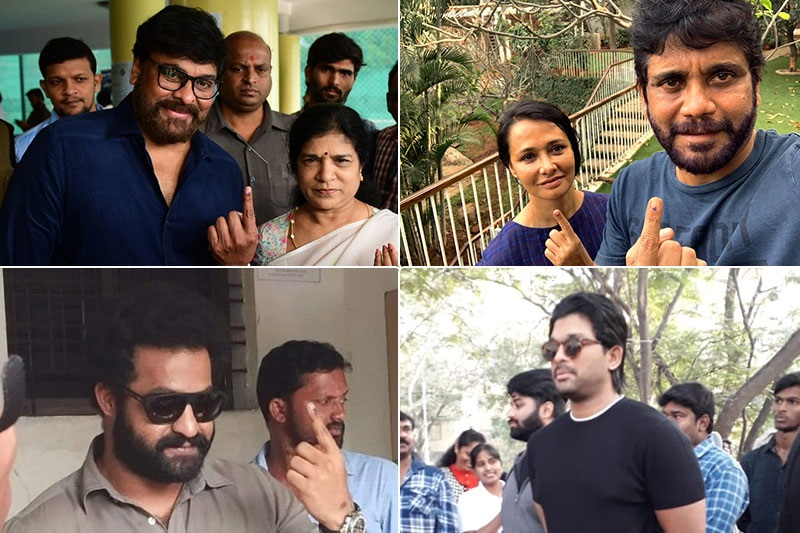 Celebrities Cast Votes