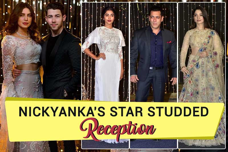 Priyanka Chopra and Nick Jonas look lovely at Mumbai wedding reception