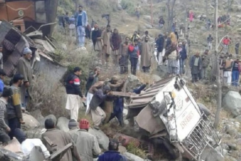 J&K bus fell into deep gorge