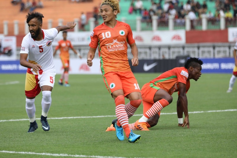 ILeague Katsumi Yusa brace ends Churchill Brothers unbeaten run Neroca