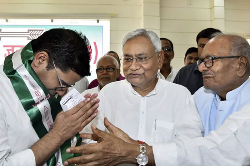 Prashant Kishor with JDU chief Nitish Kumar