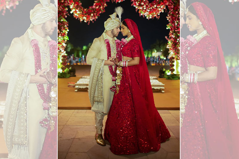 first glimpse priyanka nick hindu wedding
