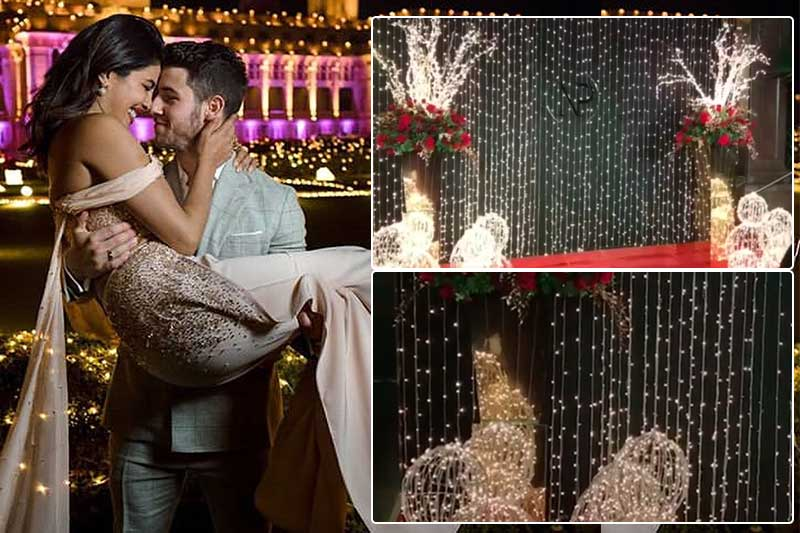 priyanka nick reception venue decoration