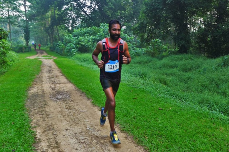 Ullas Narayan India's first medal ultra running