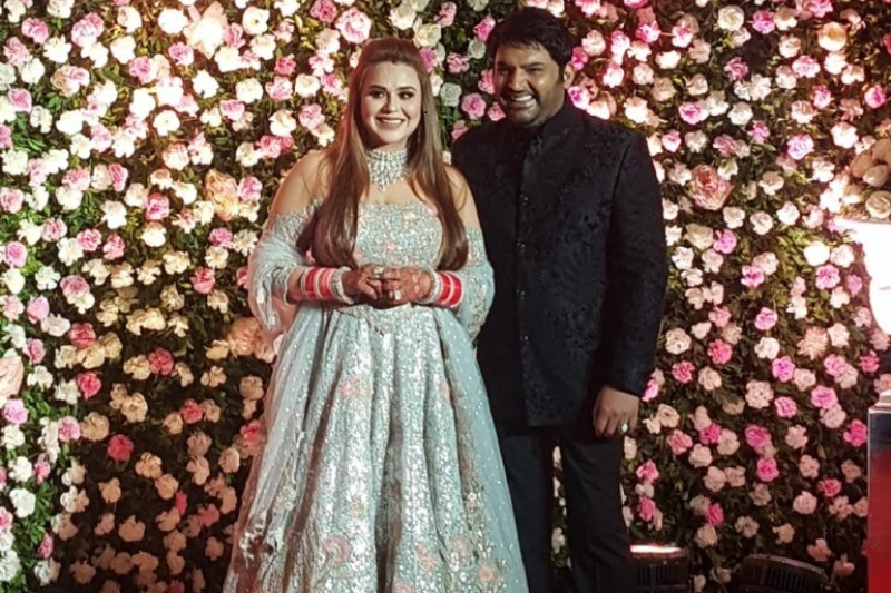 First picture of Kapil Shamra and Ginni Chatrath from Mumbai reception is here