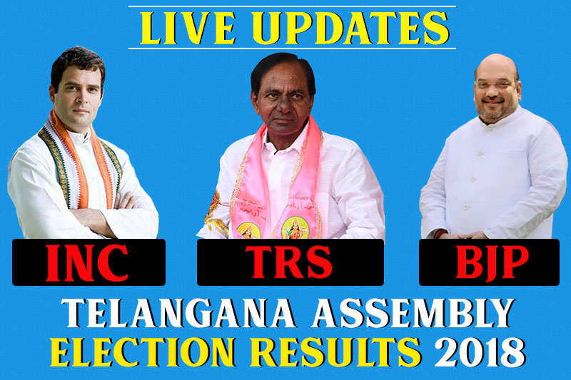 Telangana Assembly election results 2018 LIVE UPDATES: TRS