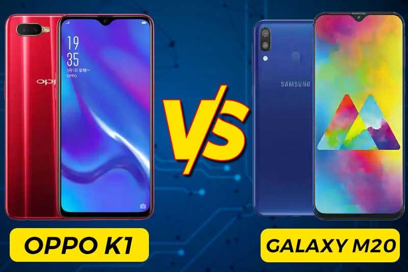 oppo-k1-vs-samsung-galaxy-m20