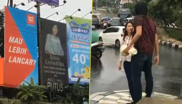 Indonesian Boy Breaks Up With His Gf And Announces It With Billboard Watch Video