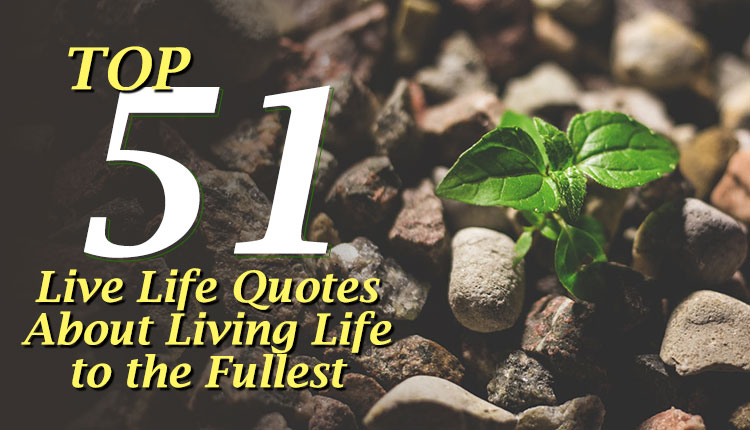 Top 51 Live Life Quotes About Living Life To The Fullest April Updated