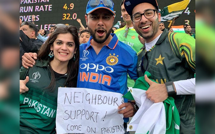 pakistan support india against england