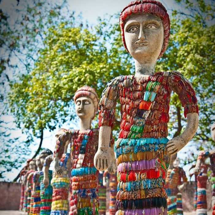 Rock Garden : Witness the coolest  recycled sculptures