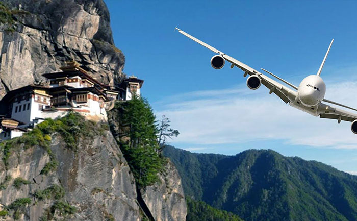 Parlo Airport, Bhutan, Himalayan Mountains