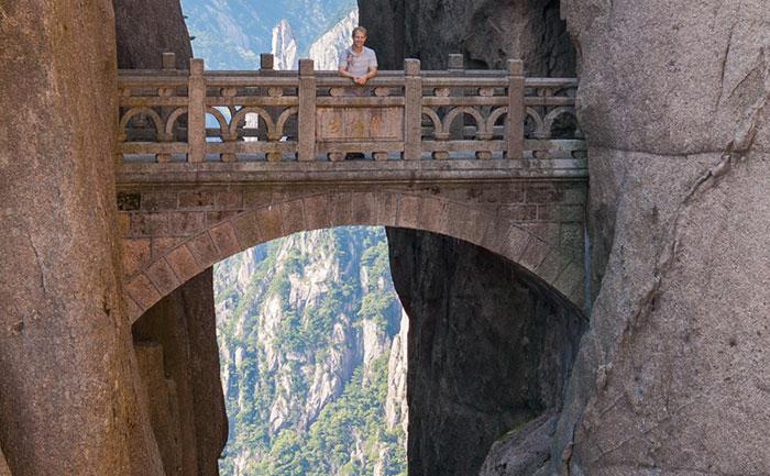 The Bridge of Immortals Huang Shang China world's dangerous bridge