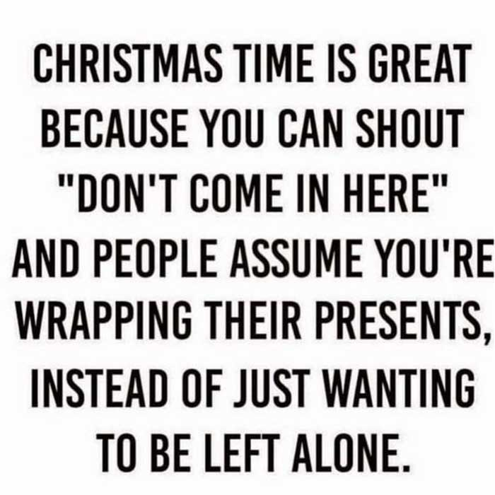 Let everybody think you are wrapping gifts