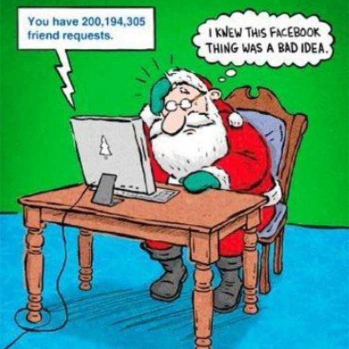 Digital Christmas turns out work overload for Santa