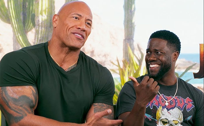 The Rock Kevin Hart free movie tickets