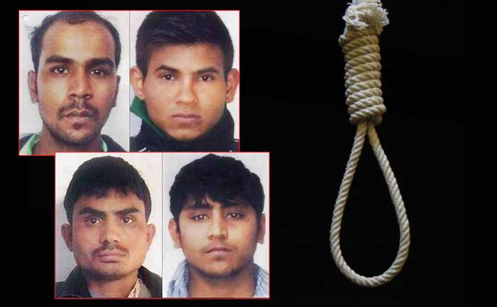 nirbhaya rape case four convicts to hang
